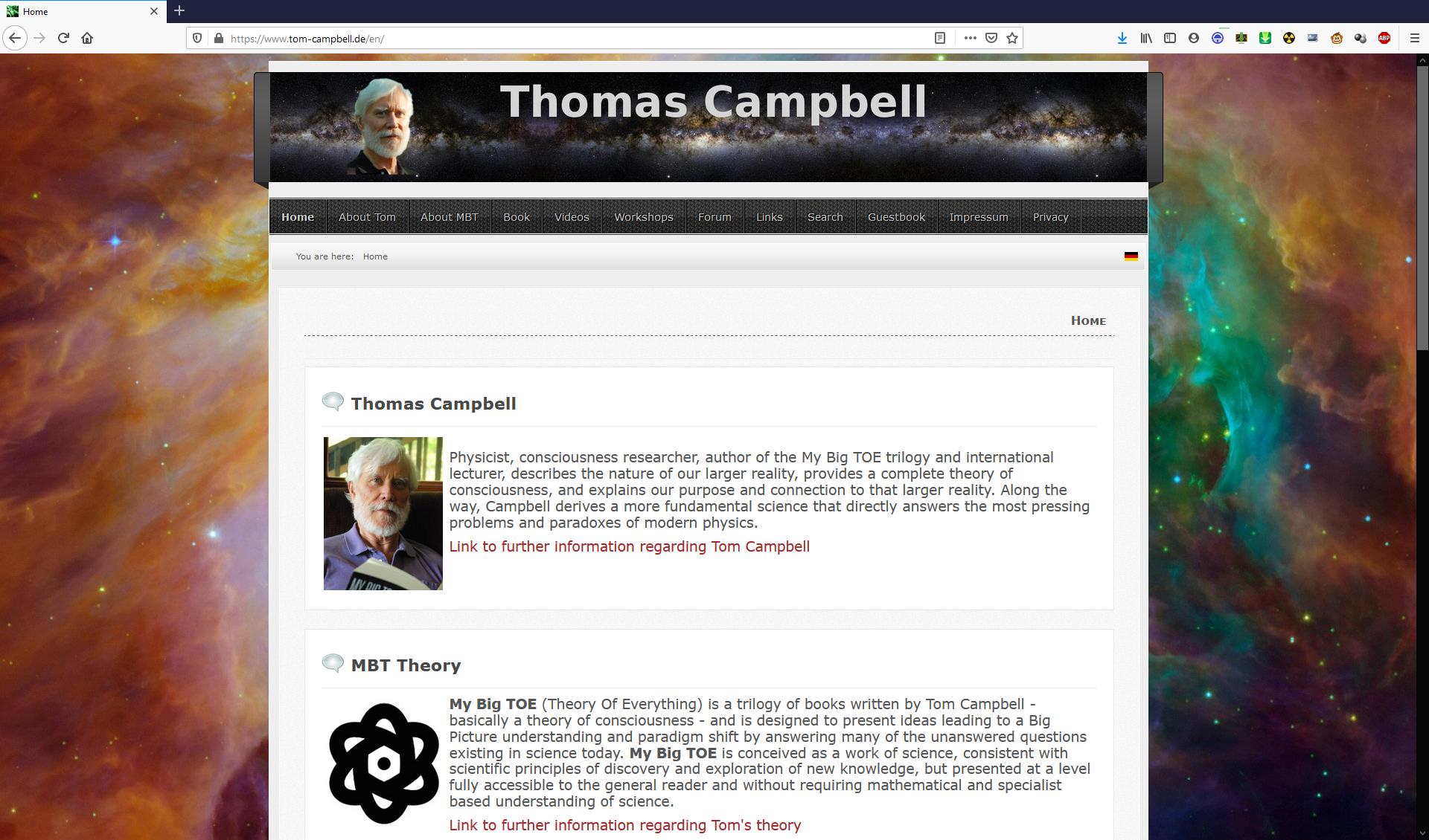 Tom-Campbell.de Screenshot